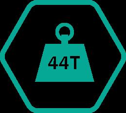 Poids total autorisé en charge PTAC 44 tonnes